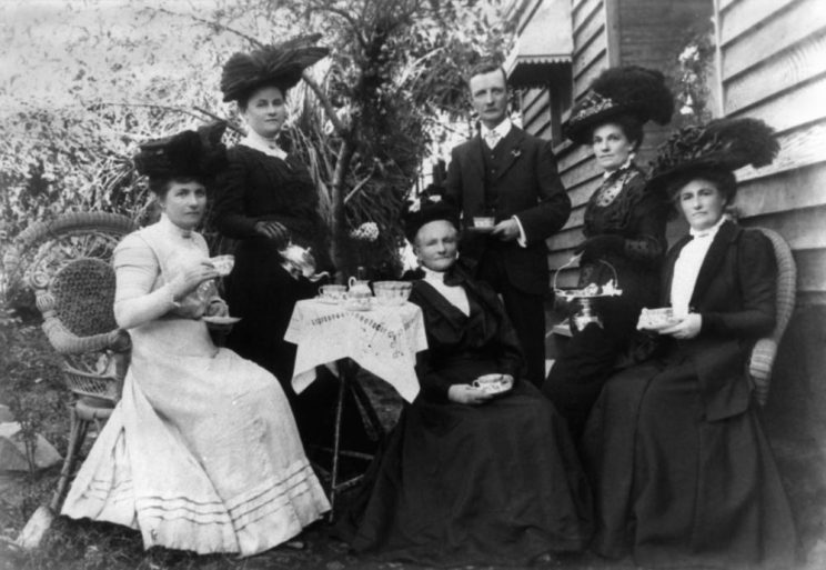 Afternoon Tea scene, Australia, ca. 1900