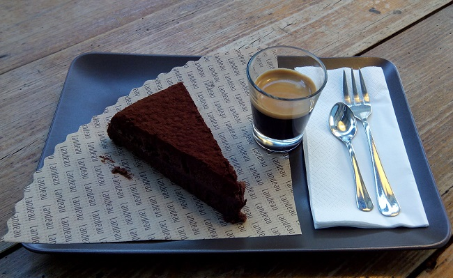 dessert in Lisbon, chocolate cake