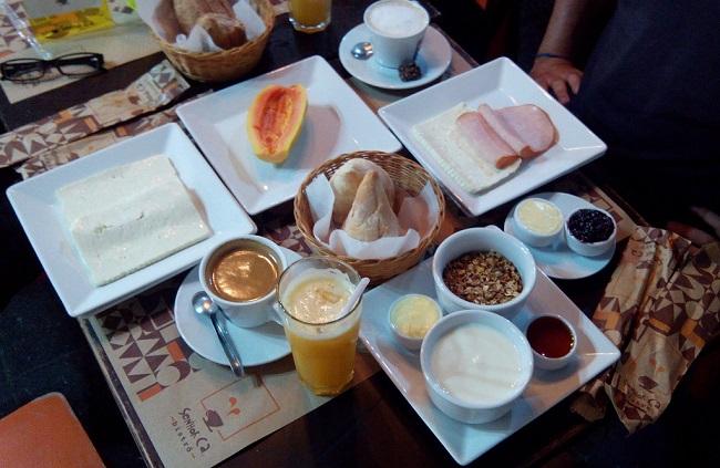 Rio de Janeiro, breakfast